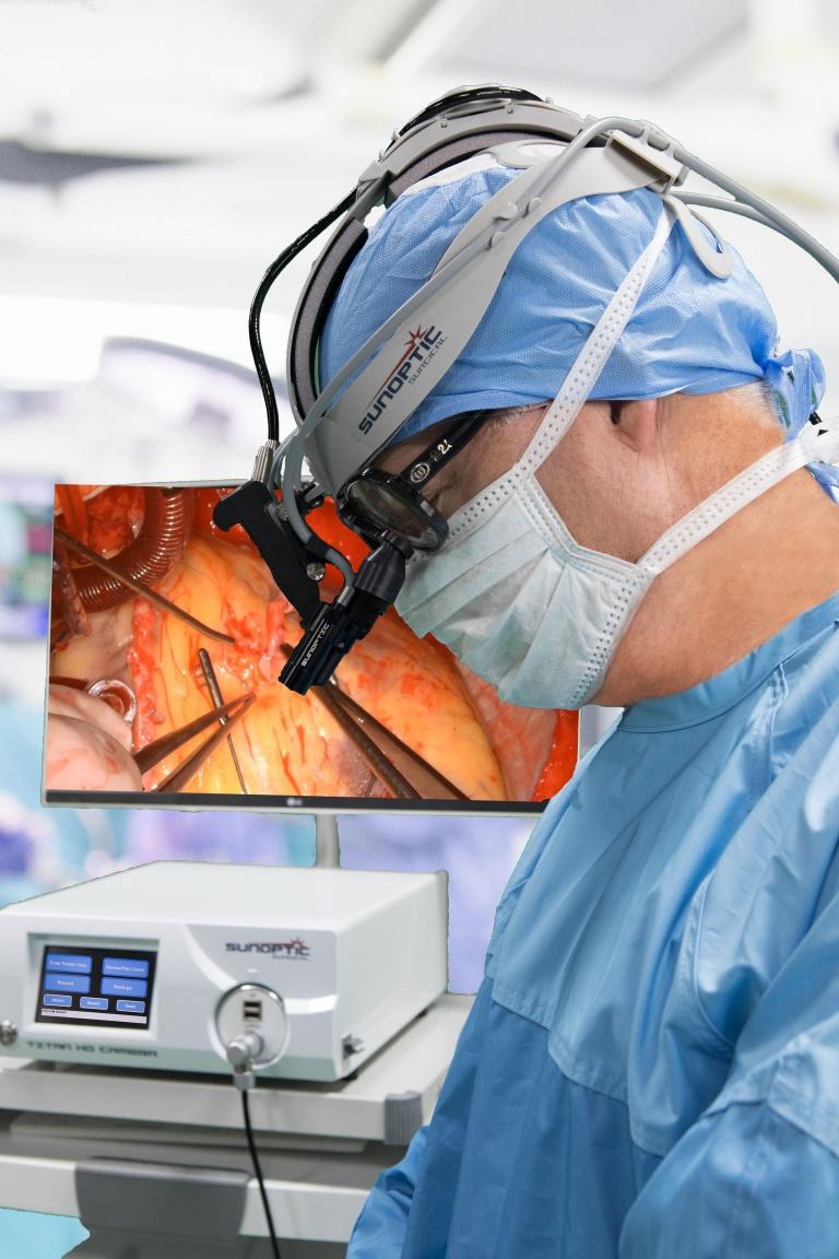 Surgeon Using HDC-300 Surgical Camera