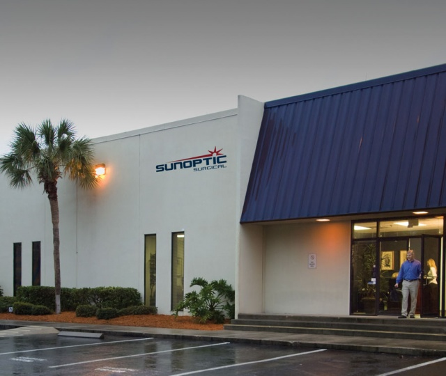 Front of Sunoptic Surgical Building
